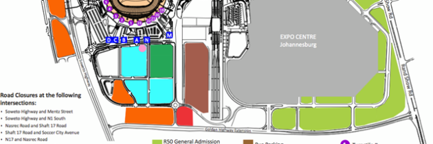 FNB Stadium Soccer City Concert Parking Plan