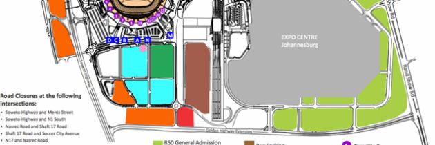 FNB Stadium Soccer City Concert Parking Plan
